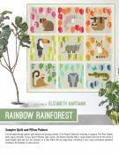 Rainbow Rainforest quilt sewing pattern by Elizabeth Hartman
