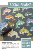 Jingle Bell Special (expires 11:59PM ET on 10/26/21)...Social Sharks quilt sewing pattern by Elizabeth Hartman