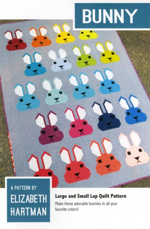 Bunny quilt sewing pattern by Elizabeth Hartman