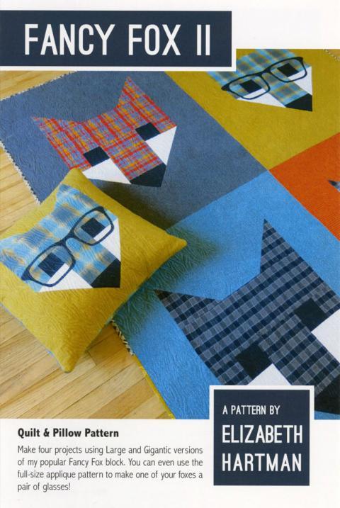 Fancy Fox 2 quilt sewing pattern by Elizabeth Hartman