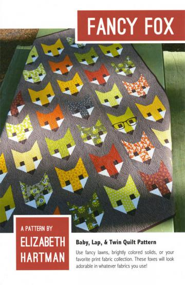 Fancy Fox quilt sewing pattern by Elizabeth Hartman
