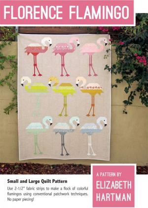 Florence Flamingo quilt sewing pattern by Elizabeth Hartman