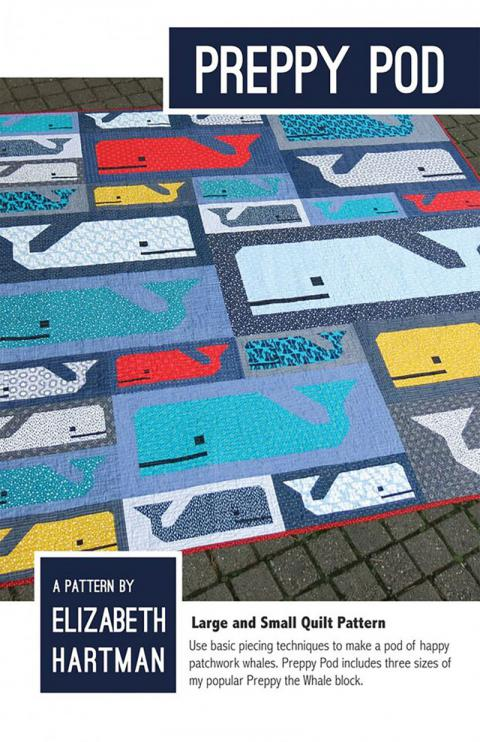 Preppy Pod quilt sewing pattern by Elizabeth Hartman