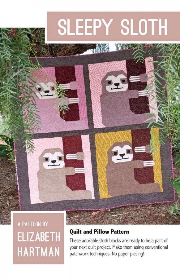 Sleepy Sloth quilt sewing pattern by Elizabeth Hartman
