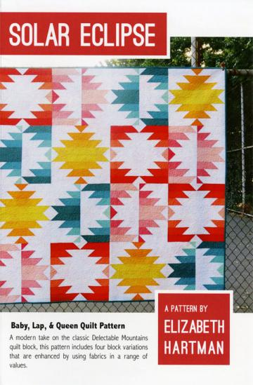 Solar Eclipse quilt sewing pattern by Elizabeth Hartman