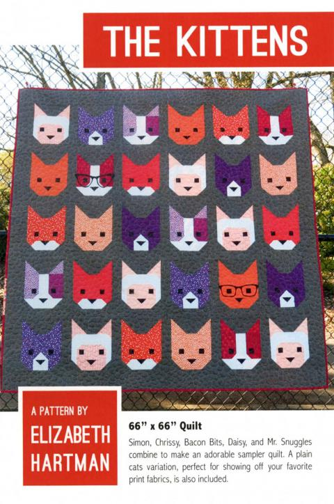 The Kittens quilt sewing pattern by Elizabeth Hartman