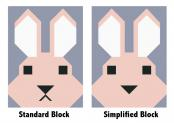 Bunny quilt sewing pattern by Elizabeth Hartman 4