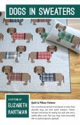 Dogs In Sweaters quilt sewing pattern by Elizabeth Hartman