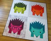 Hazel Hedgehog 2 quilt sewing pattern by Elizabeth Hartman 2