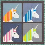 Lisa the Unicorn quilt sewing pattern by Elizabeth Hartman 5