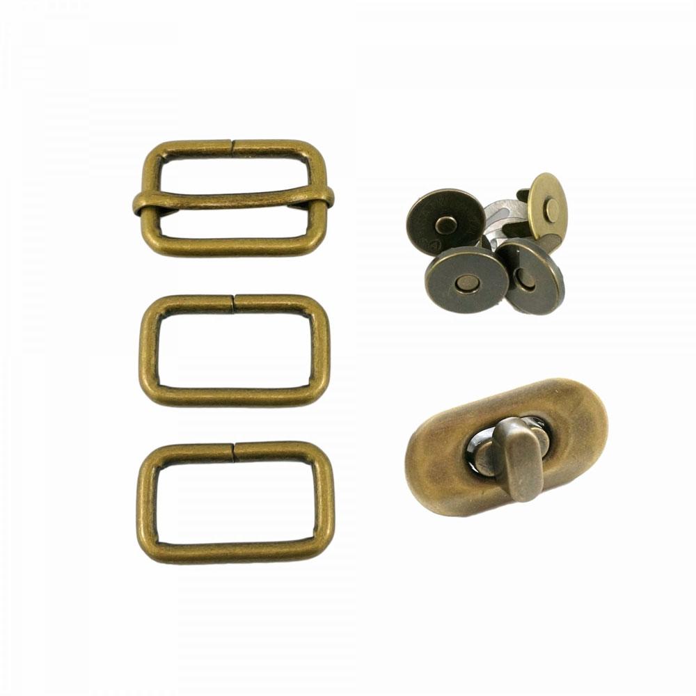 Butterfly-Sling-Hardware-Kit-Antique-Brass-Emmaline-Bags-EBKIT-104AB