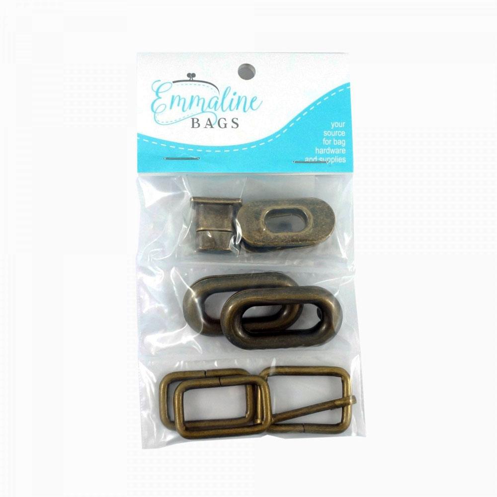Spring-Sling-Hardware-Kit-Antique-Brass-Emmaline-Bags-EBKIT-103AB