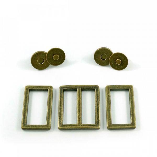 Manhattan Bag Hardware Kit - Antique Brass from Emmaline Bags