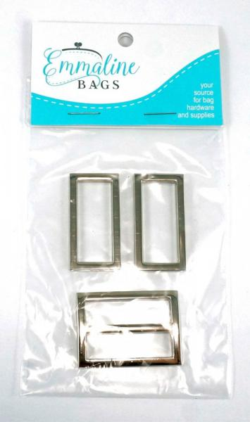 Prairie Girl Hardware Kit - Nickel from Emmaline Bags