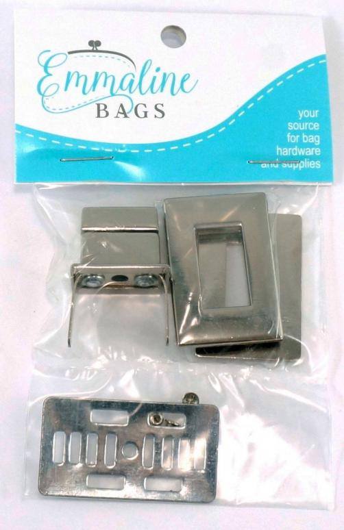 INVENTORY REDUCTION...Rectangle Turn Lock  - Nickel from Emmaline Bags