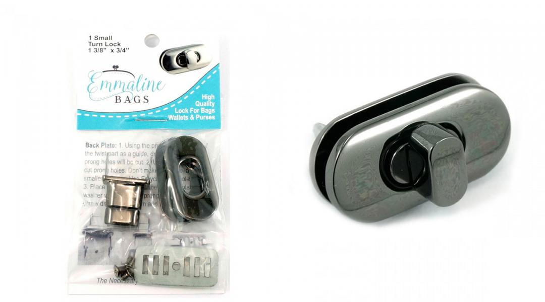 Small-Turn-Lock-Gunmetal-Emmaline-Bags-EBLC-301GM