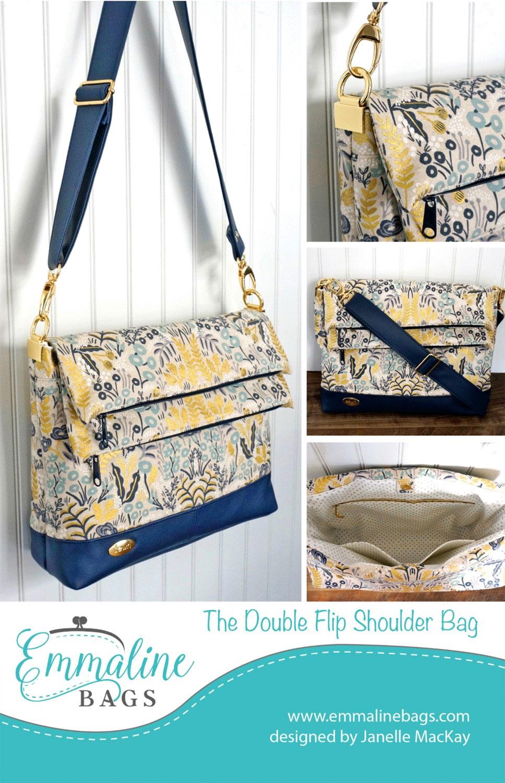 Double Flip Shoulder Bag Sewing Pattern From Emmaline Bags