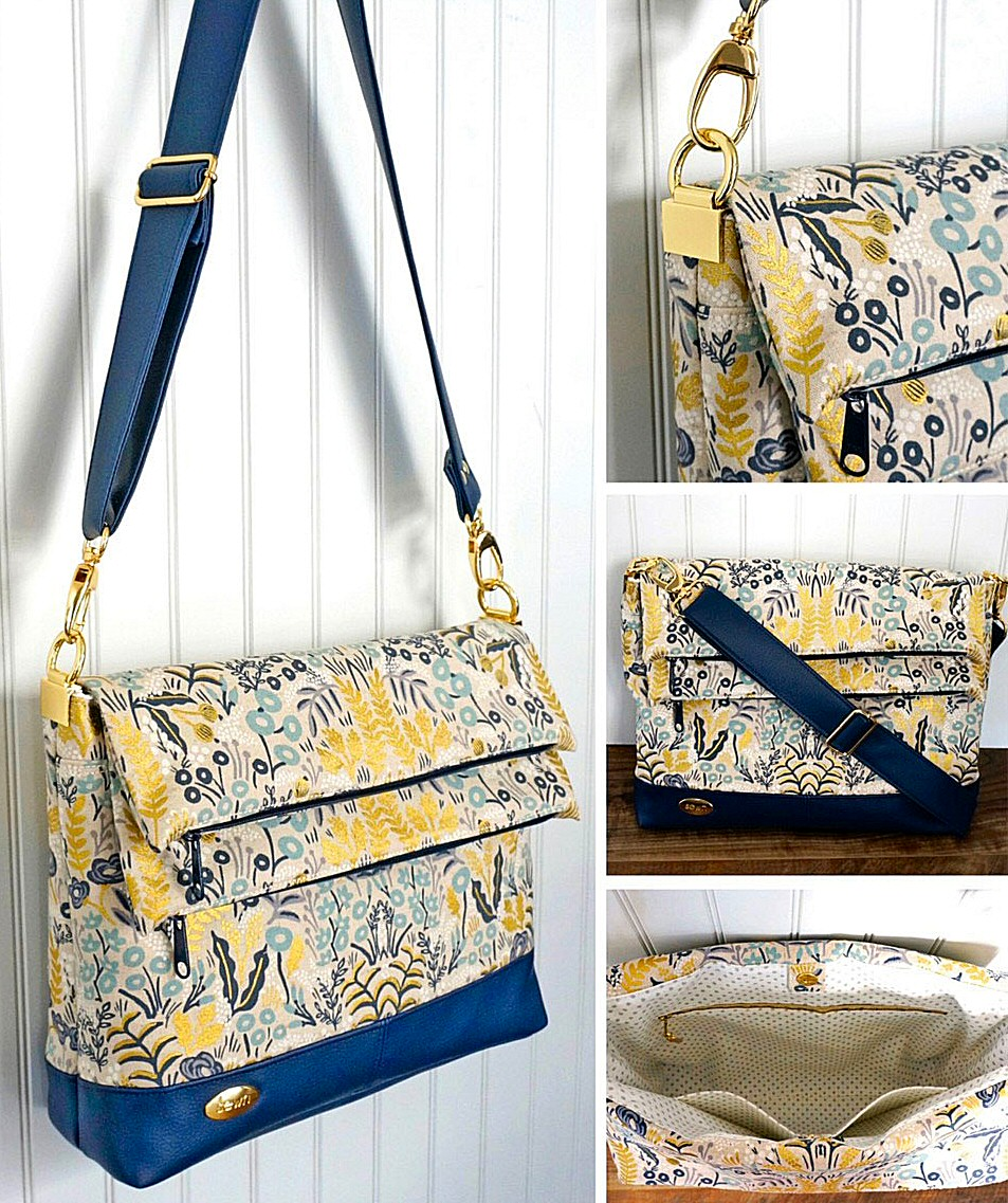 Double Flip Shoulder Bag sewing pattern from Emmaline Bags 2