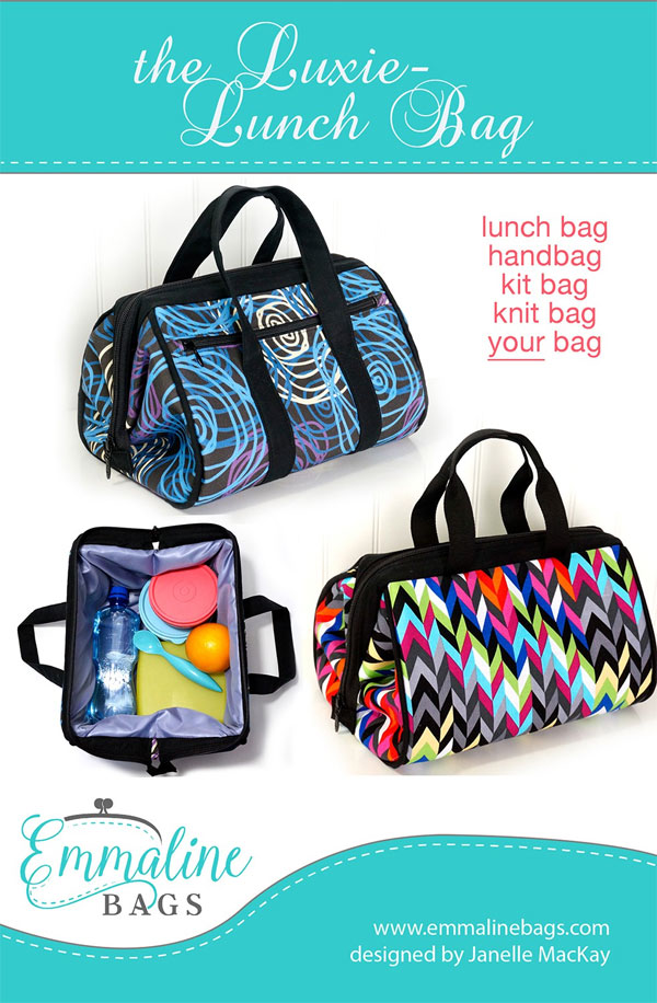 Luxie-Lunch-Bag-sewing-pattern-Emmaline-Bags-front