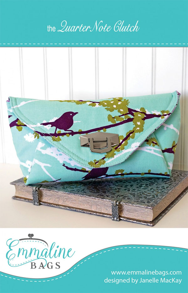 Quarter-Note-Clutch-sewing-pattern-Emmaline-Bags-front