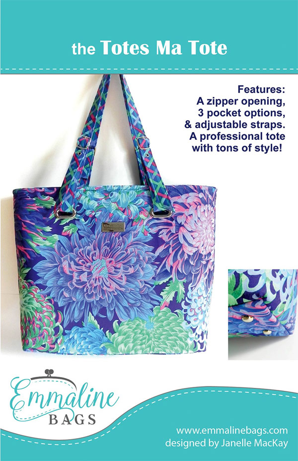 Totes Ma Tote sewing pattern from Emmaline Bags