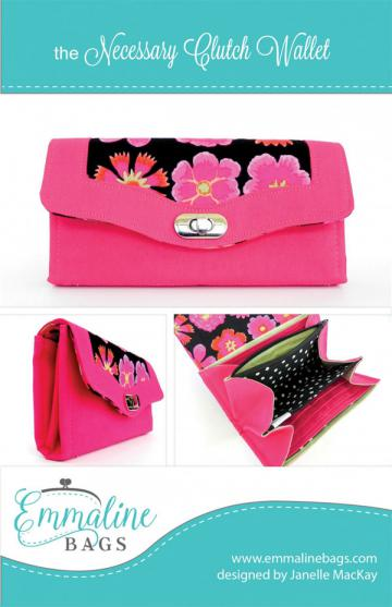 Necessary-Clutch-Wallet-sewing-pattern-Emmaline-Bags-front