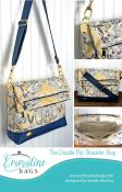 Double Flip Shoulder Bag sewing pattern from Emmaline Bags