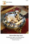 Reversible Nap Sack pet bed sewing pattern from FatCat Patterns