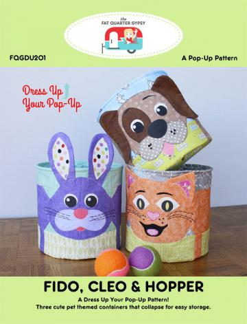 Fido, Clean & Hopper dress up your Pop Up sewing pattern by the Fat Quarter Gypsy