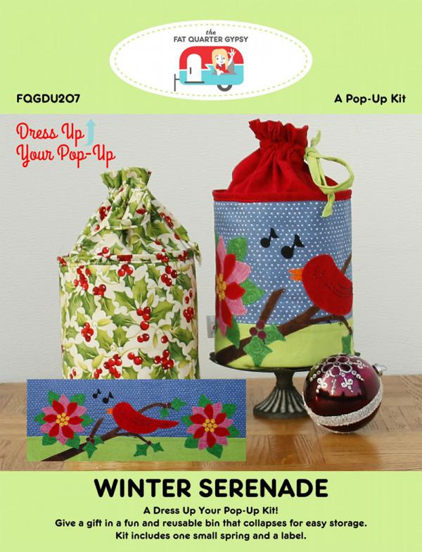 Winter's Serenade dress up your Pop Up sewing pattern by the Fat Quarter Gypsy