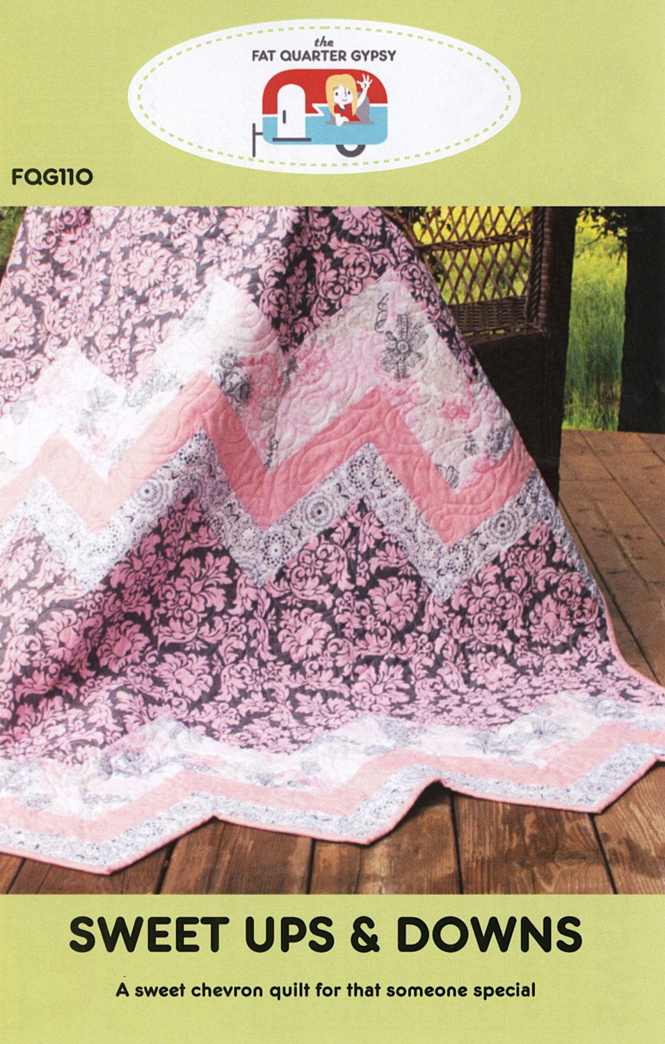Sweet Ups and Downs quilt sewing pattern by the Fat Quarter Gypsy front cover