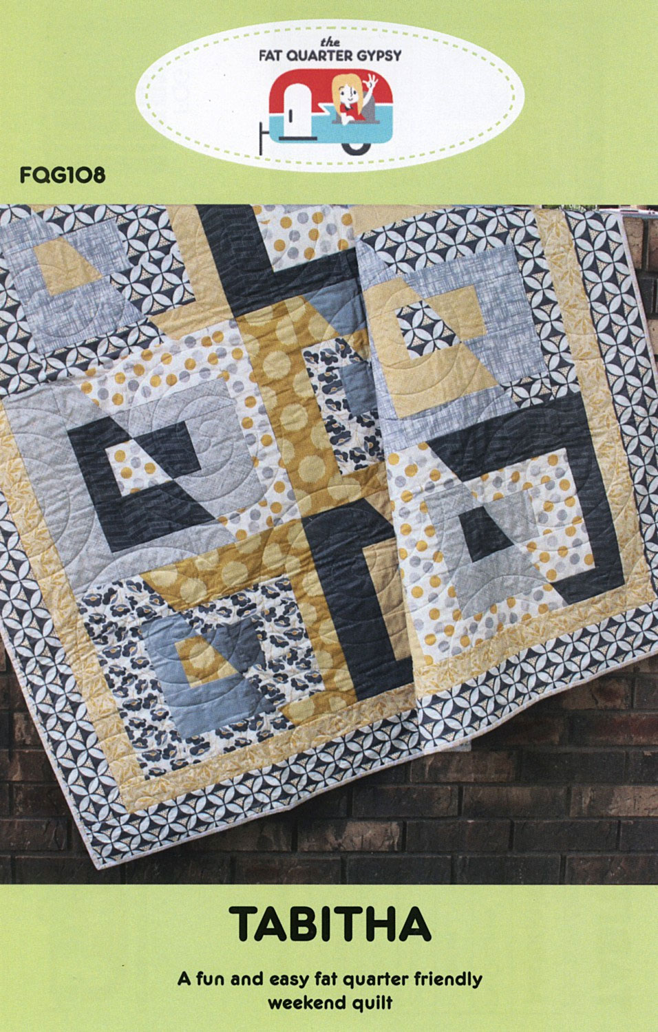 Tabitha quilt sewing pattern by the fat quarter gypsy tabitha quilt sewing pattern fat quarter gypsy front jeuxipadfo Gallery
