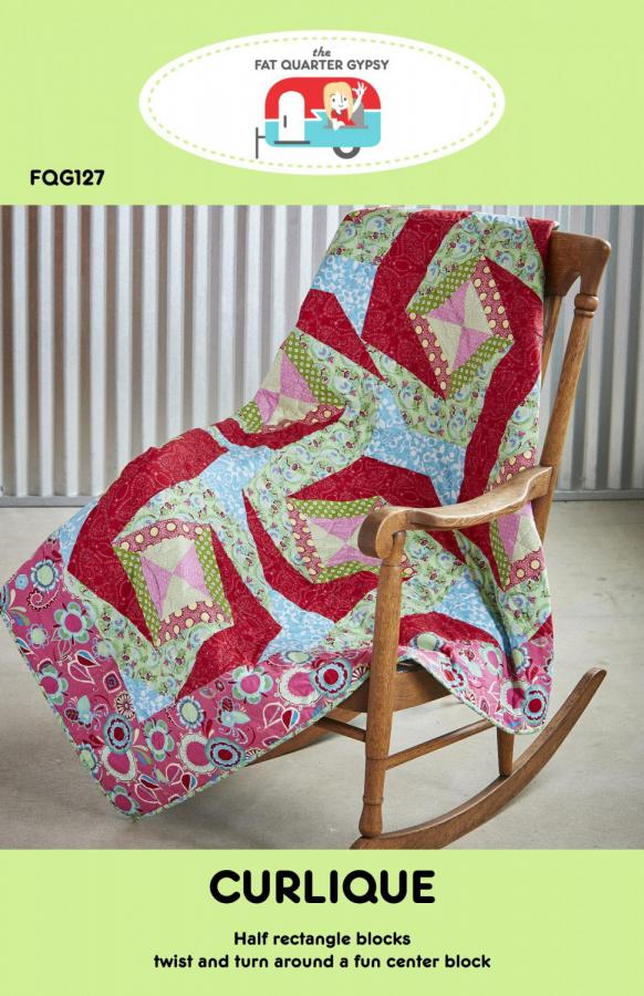 Curlique quilt sewing pattern by the Fat Quarter Gypsy