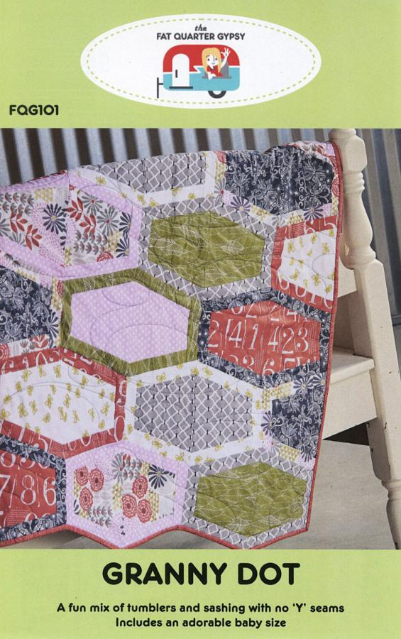 Granny Dots quilt sewing pattern by the Fat Quarter Gypsy
