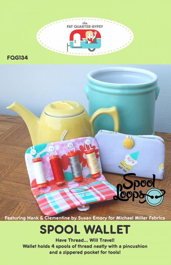 Spool Wallet sewing pattern by the Fat Quarter Gypsy