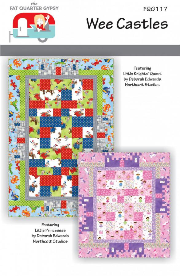 Wee Castles quilt sewing pattern by the Fat Quarter Gypsy