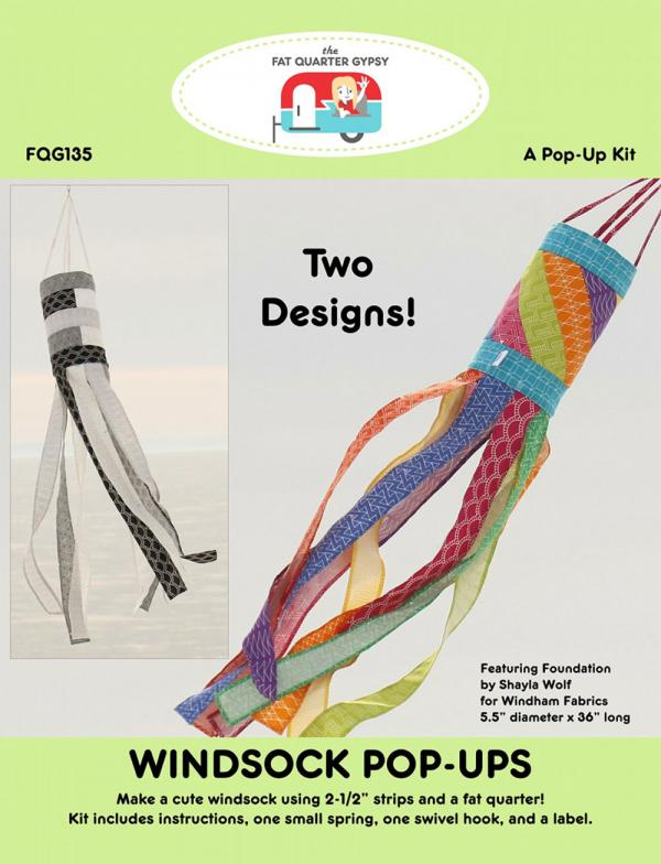 Windsock Pop Ups sewing pattern & hardware kit by the Fat Quarter Gypsy
