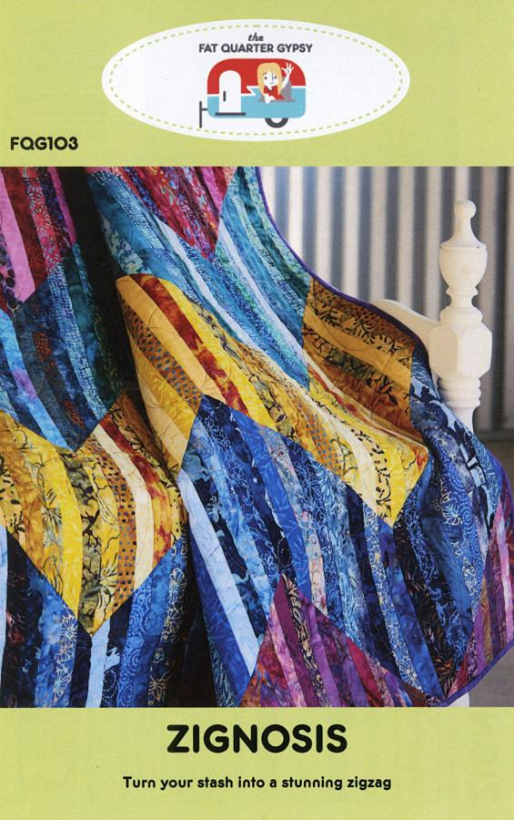 Zignosis quilt sewing pattern by the Fat Quarter Gypsy front cover