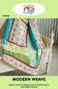 CLOSEOUT...Modern Weave quilt sewing pattern by the Fat Quarter Gypsy