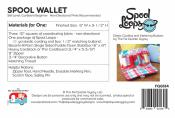 Spool Wallet sewing pattern by the Fat Quarter Gypsy 2