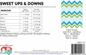 Sweet Ups and Downs quilt sewing pattern by the Fat Quarter Gypsy backcover