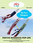 Festive Windsock Pop Ups sewing pattern by the Fat Quarter Gypsy