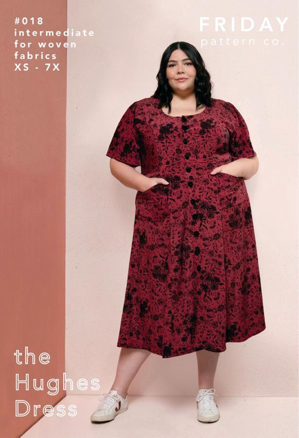 The Hughes Dress sewing pattern from Friday Pattern Company