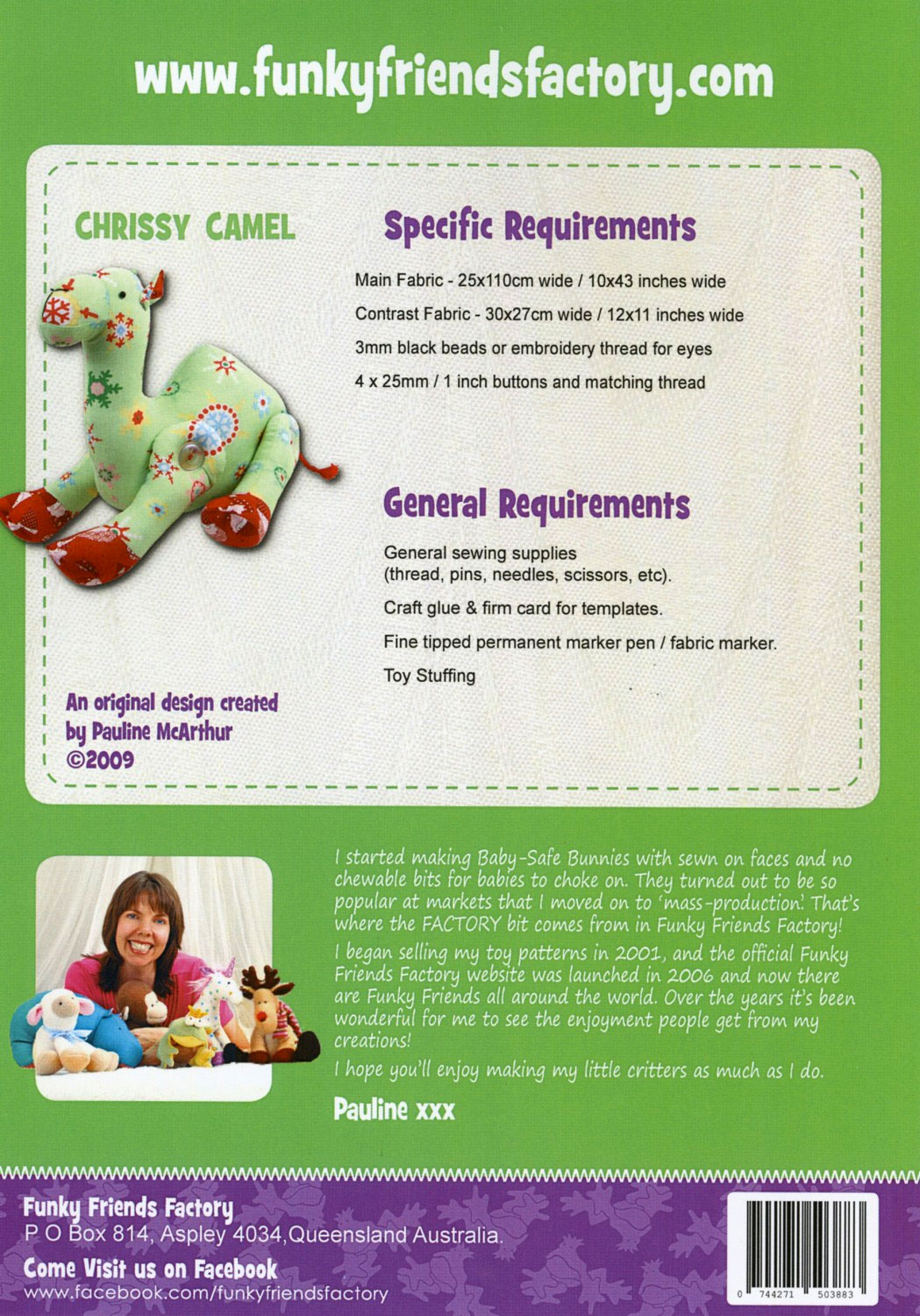 Chrissy-Camel-sewing-pattern-Funky-Friends-Factory-back