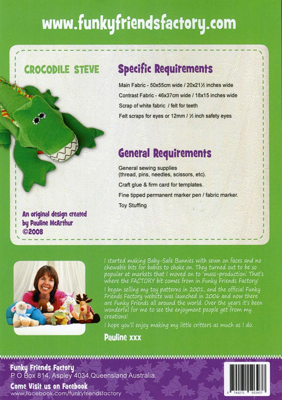 Crocodile-Aligator-Steve-sewing-pattern-Funky-Friends-Factory-back