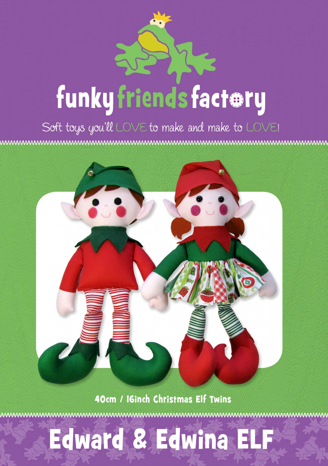 Edward-and-Edwina-Elf-sewing-pattern-Funky-Friends-Factory-front