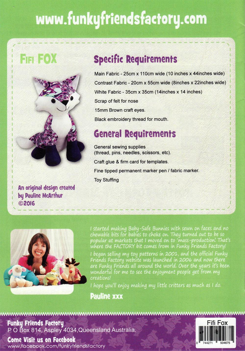Fifi-Fox-sewing-pattern-Funky-Friends-Factory-back