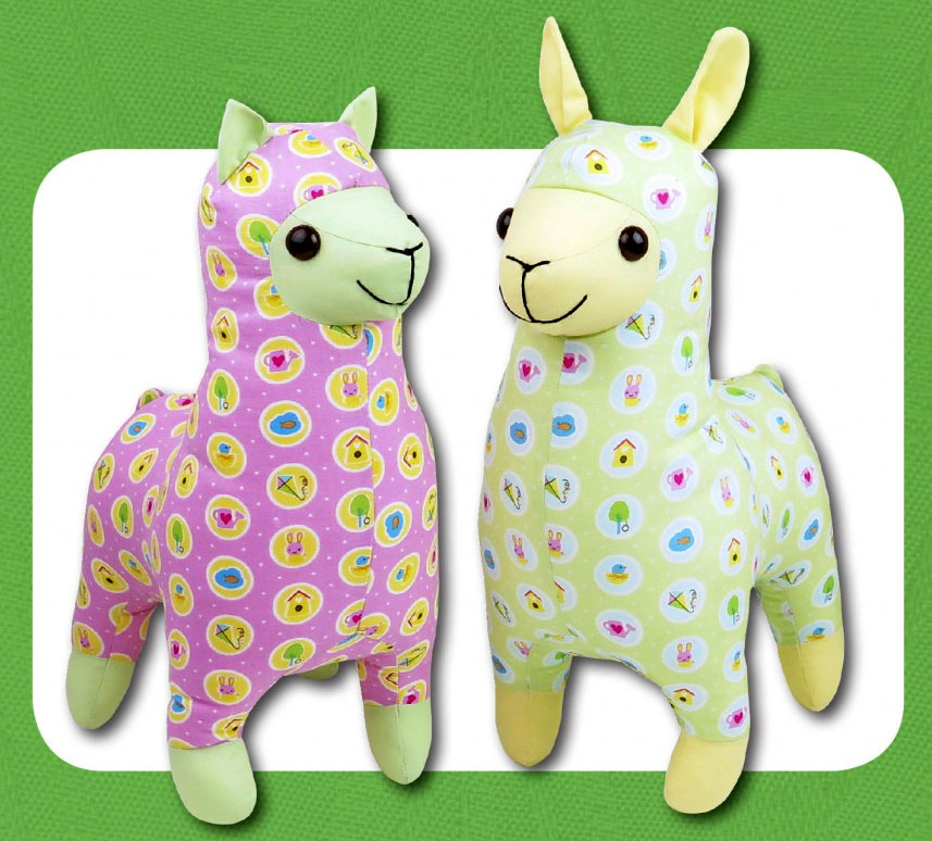 Lloyd-Llama-and-Alice-Alpaca-sewing-pattern-Funky-Friends-Factory-1