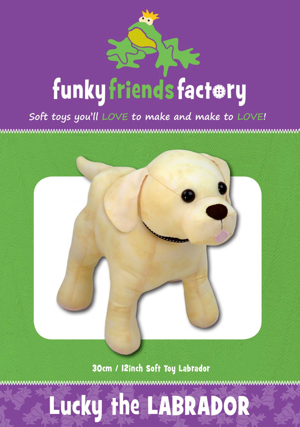 Lucky-the-Labrador-sewing-pattern-Funky-Friends-Factory-front