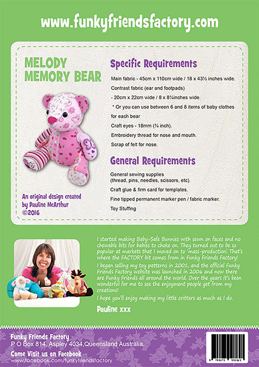 Melody-memory-bear-sewing-pattern-Funky-Friends-Factory-back